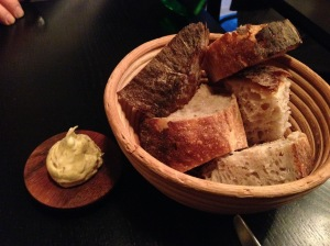 Bread and caramelized onion butter