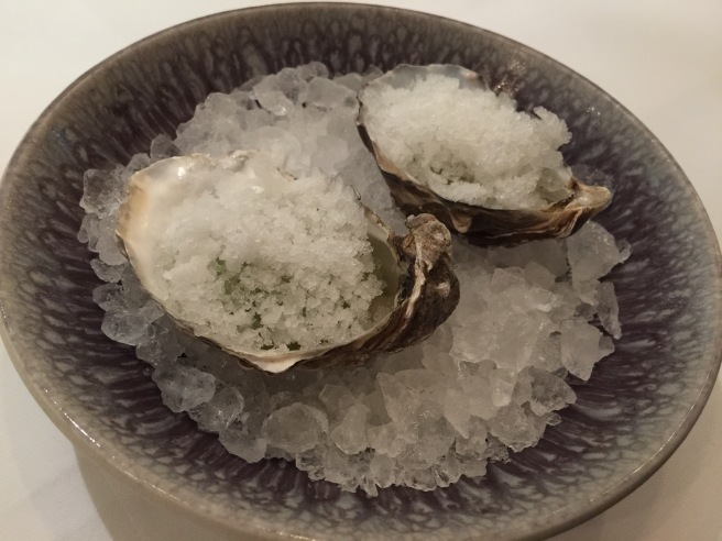 Oyster with cucumber