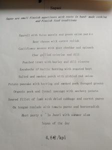 Sapa menu