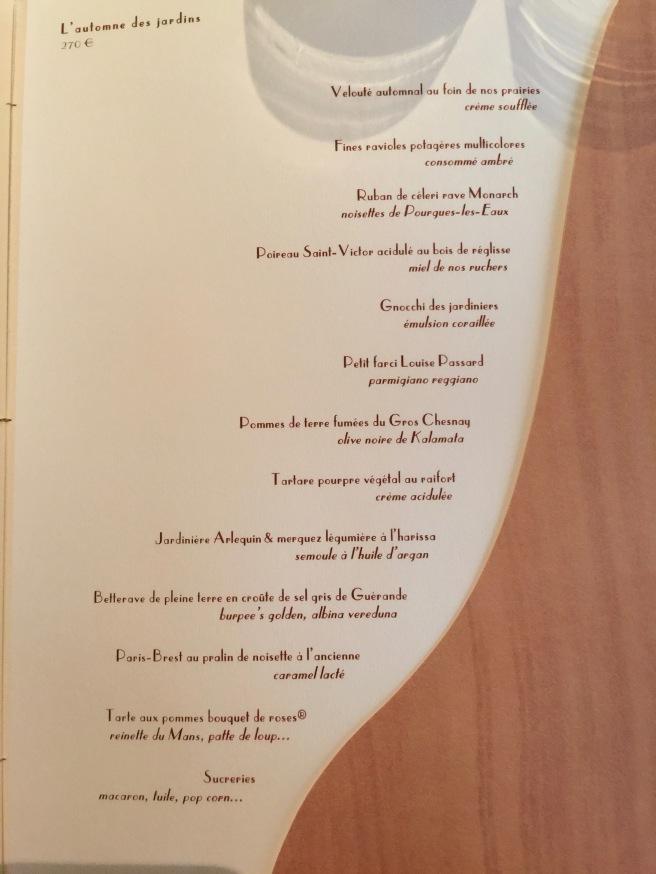 3rd tasting menu