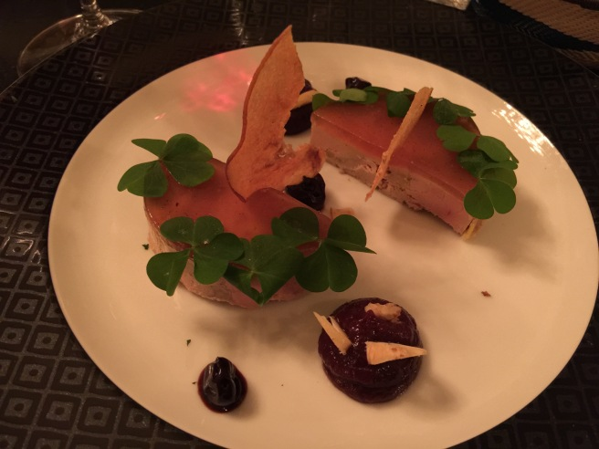 Foie gras terrine with quince