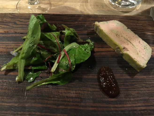 Fore gras and fig with salad