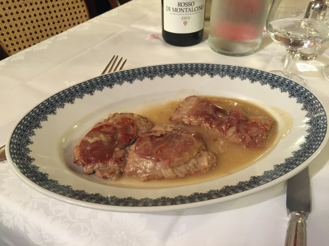 Veal Saltimbocca (with ham)