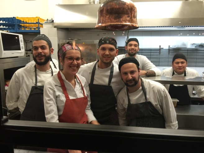 The whole kitchen staff posed for a photo! What a nice group!