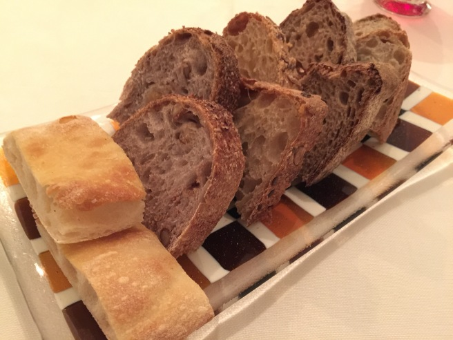bread selection: olive, chestnut, focaccia, raisin nut?