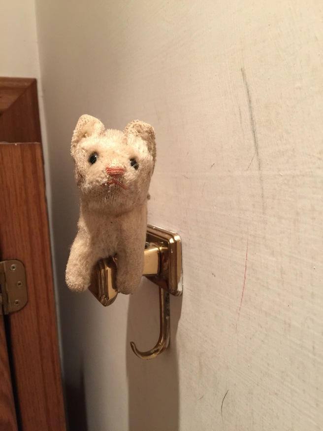 Frankie hung out on the coat hook