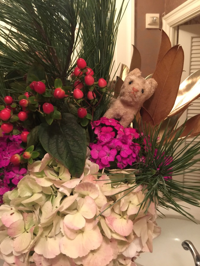 Frankie loved the bathroom flowers