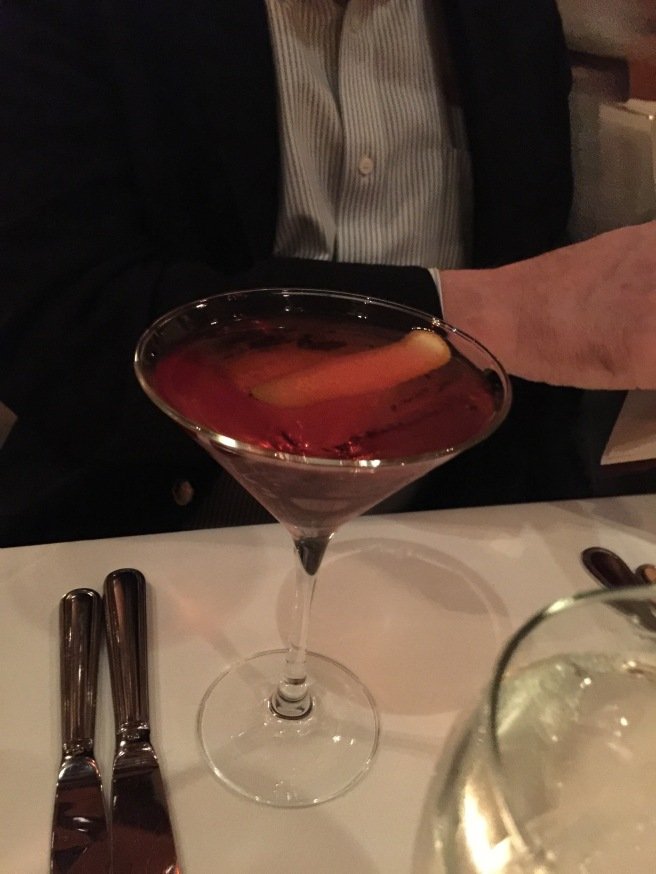 August negroni: Oryza gin, Dolin rouge, Campari