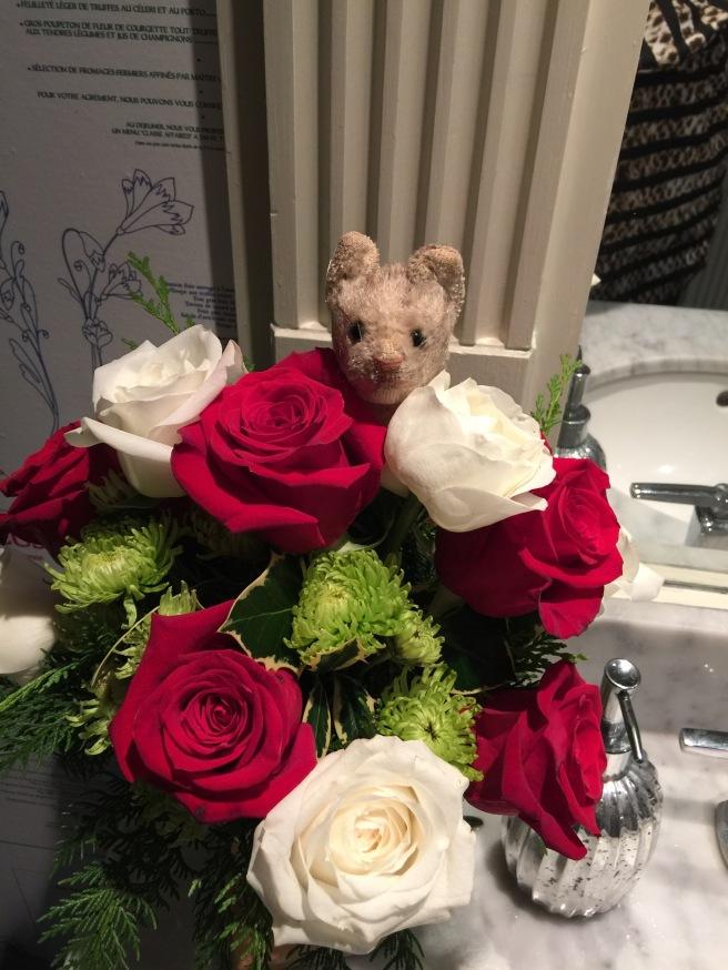 Frankie loved the bathroom flowers