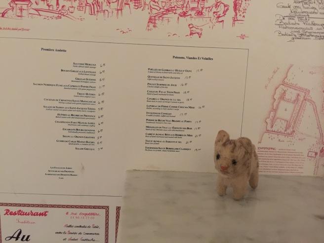 Frankie liked the menu wallpaper