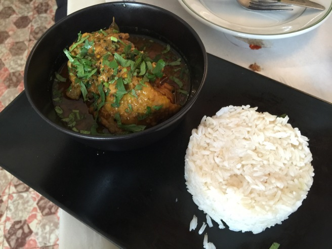 Curried  chicken with rice