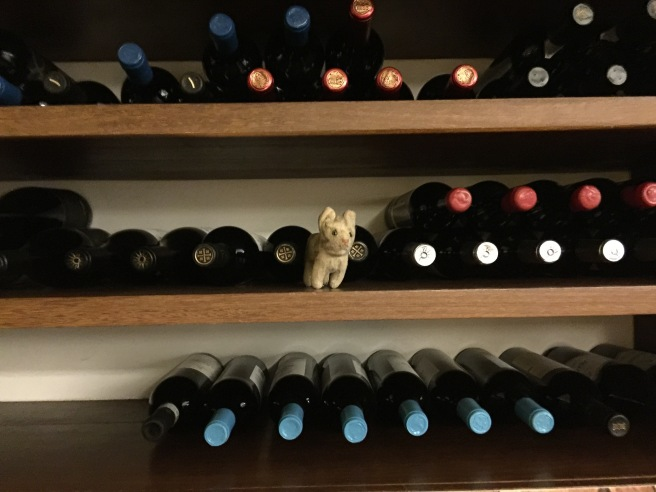 Frankie wanted to stay with the wine