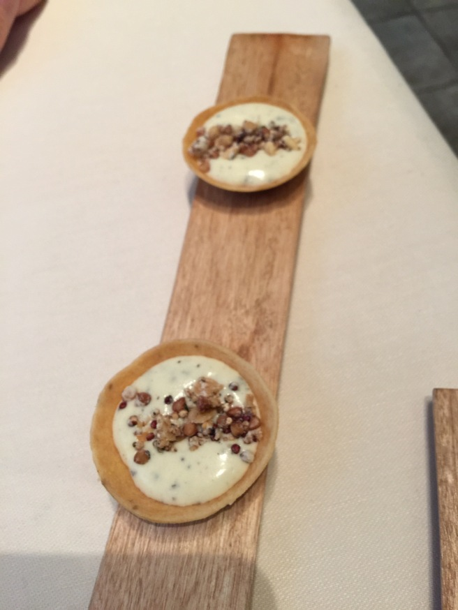 Amuse: parmesan cream with truffle