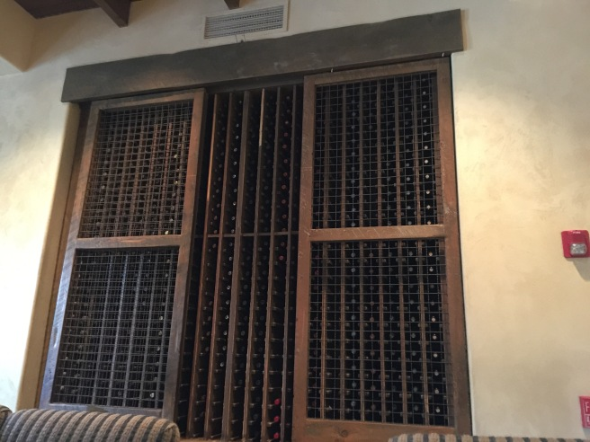 wine storage in the wall