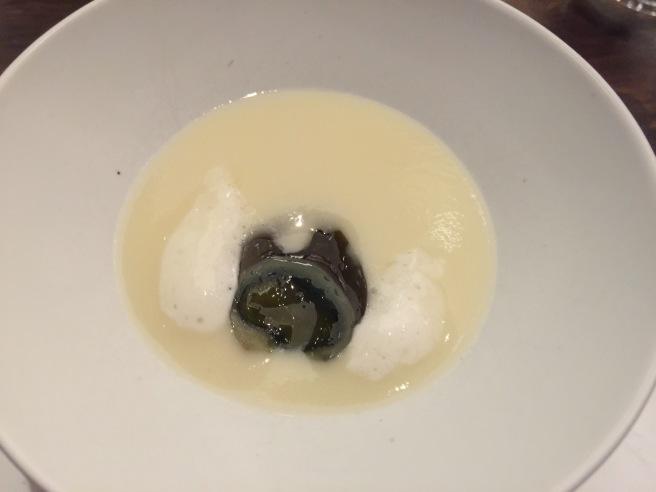 Thousand-year-old quail egg, potage, ginger