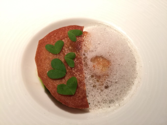 Scallops, chestnut and black truffle milk