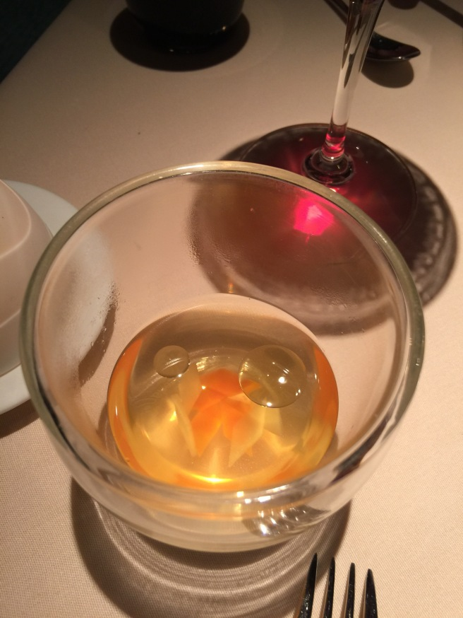 consommé with duck