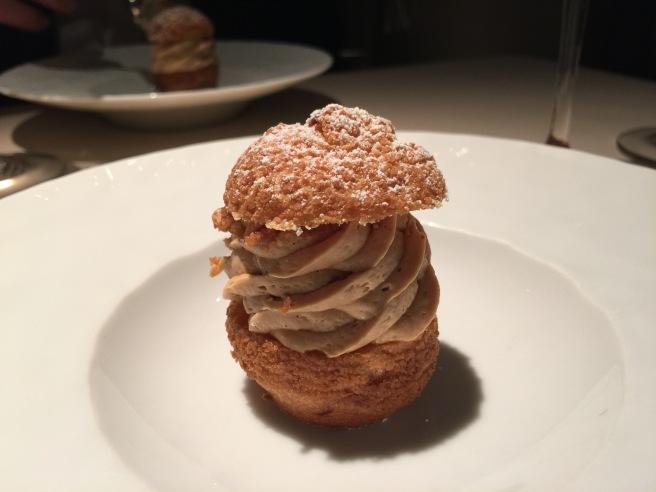 Paris brest, hazelnut praline and kuno wase satsuma