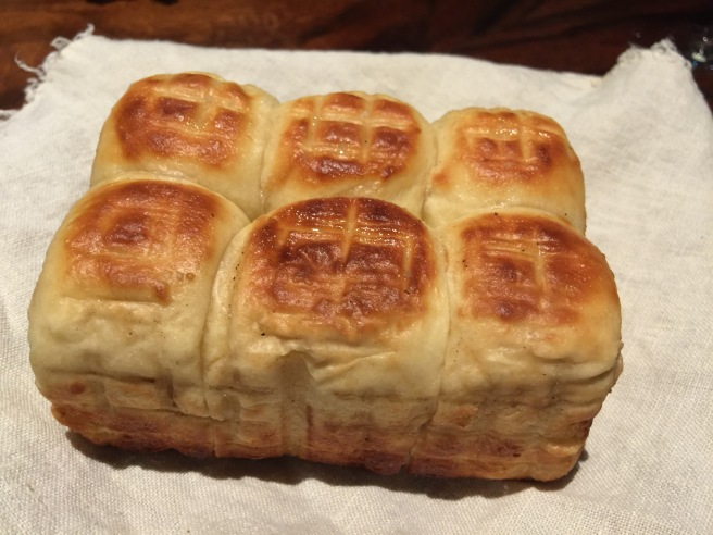Smoked Parker House rolls