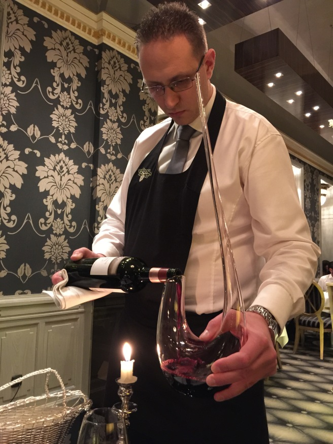 decanted with a candle