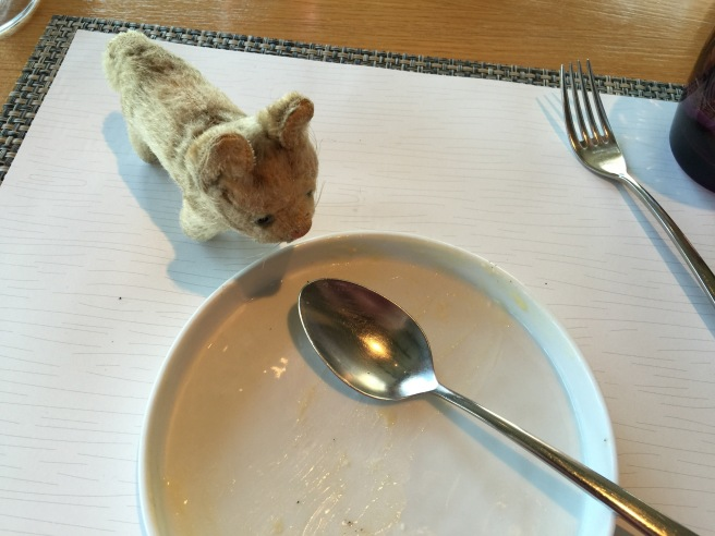 Frankie only found empty plates on the table