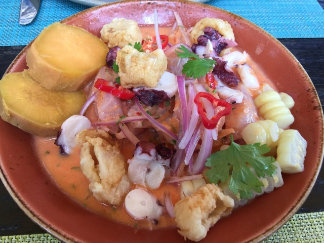 Chalaco: catch of the day and deep fried squid