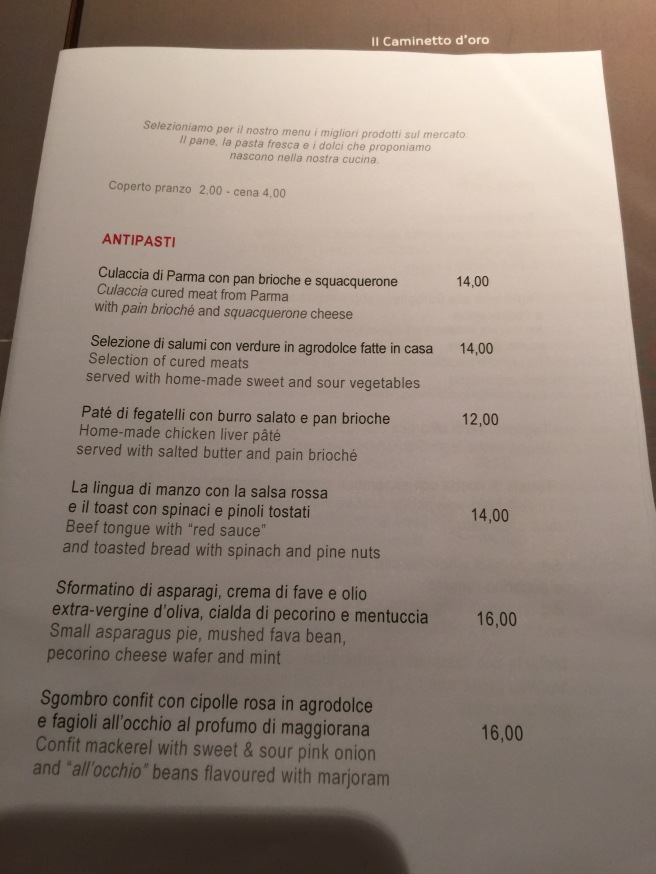 antipasta menu