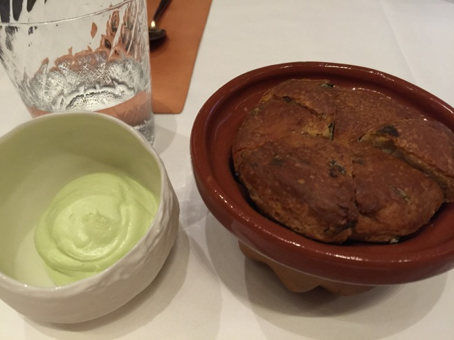 chive butter and warm bread