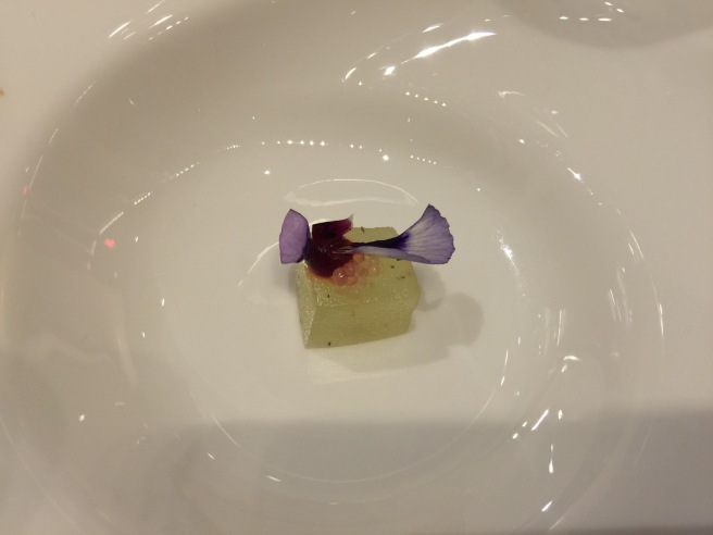 """The Last Word"": chartreuse pate de fruit and hibiscus"