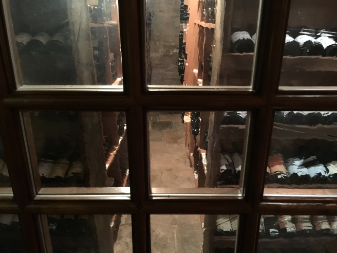 downstairs wine storage
