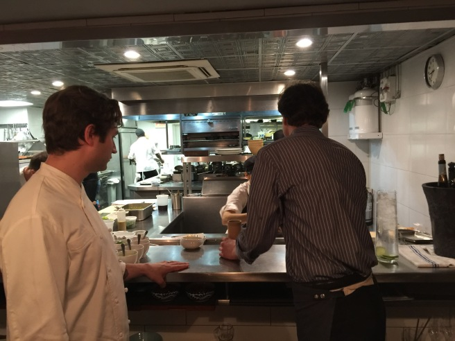 Chef Alex Stupak looks into the kitchen