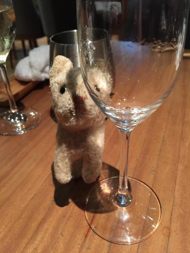 Frankie hates an empty glass