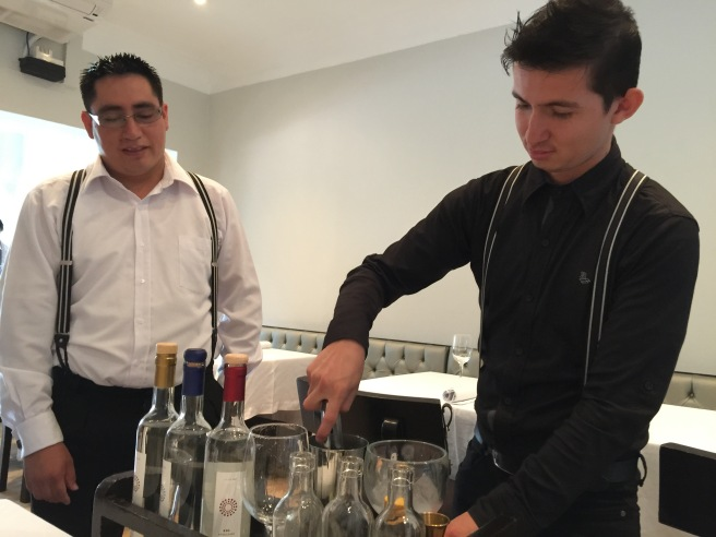 Pisco sour made tableside