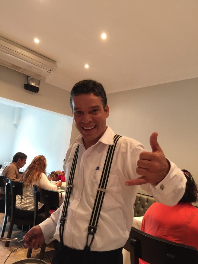 Our nice waiter