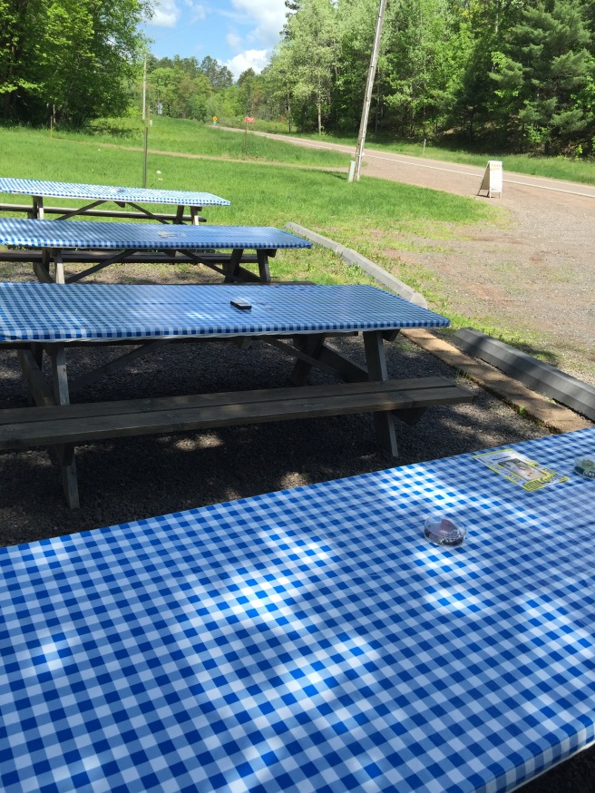 games on the picnic tables