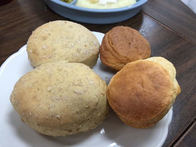 rolls and cornbread