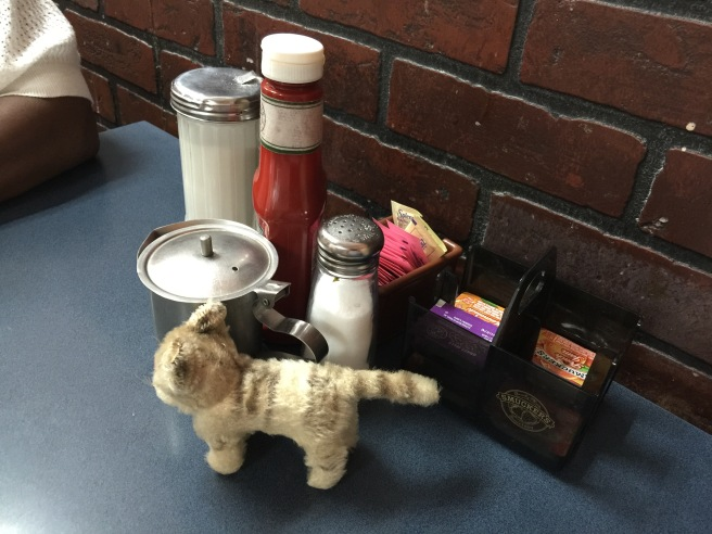 Frankie explored table condiments