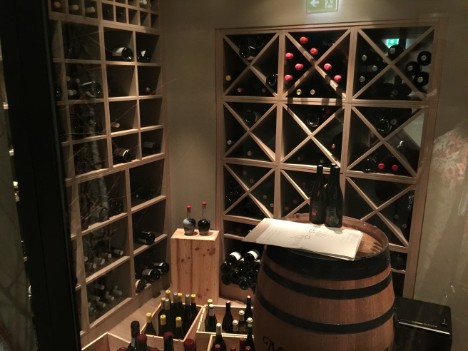 some of the wine cellar