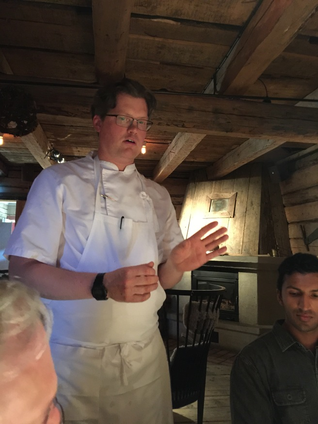 Chef Jasper telling us about the food