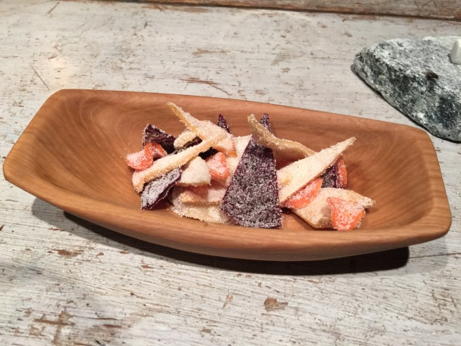 Pickled semi-dried root vegetables