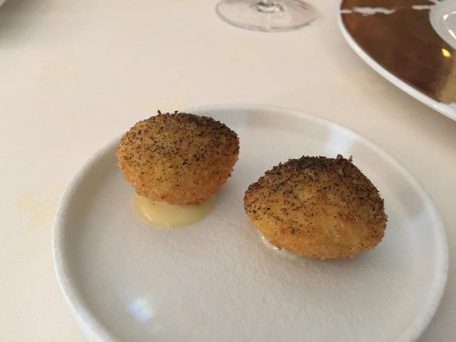 pan fried quail egg