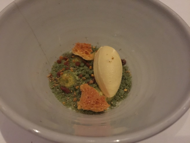 Chamomile with honey, pistachio and dijon mustard