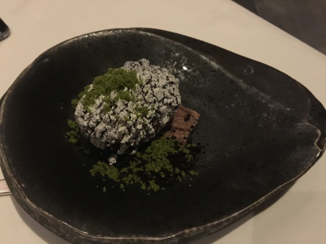 Kawa-ishi with kinako and black sesame