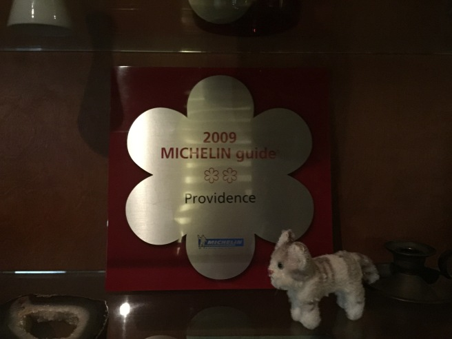 Frankie and their old Michelin award
