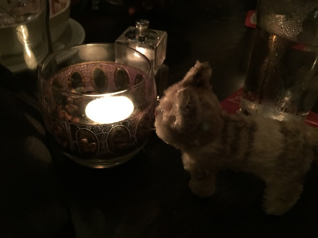 Frankie was mesmerized by the candle