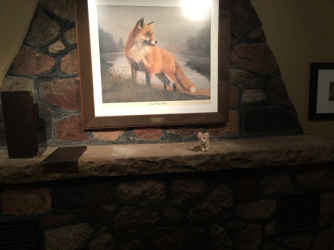 Frankie and the fox painting