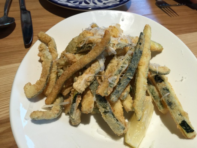 Fried Zucchini with lemon