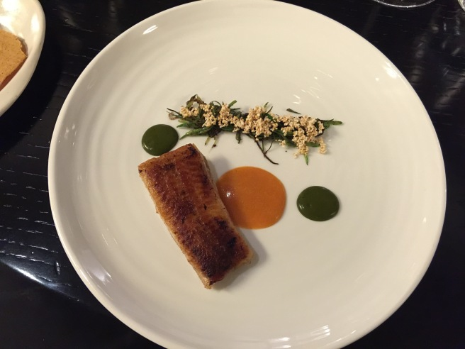 Eel, apricot and beans
