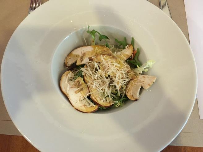 Insalata di funghi porcini e grana