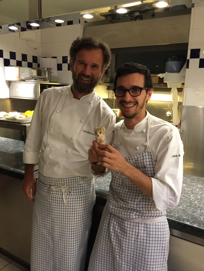 Chef Cracco and Head Chef Luca Saccihi with Frankie